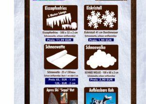 Eiszapfenfries Eiskristall Schneewatte Schneewolke Seppl hut Kuh Fun Production GmbH