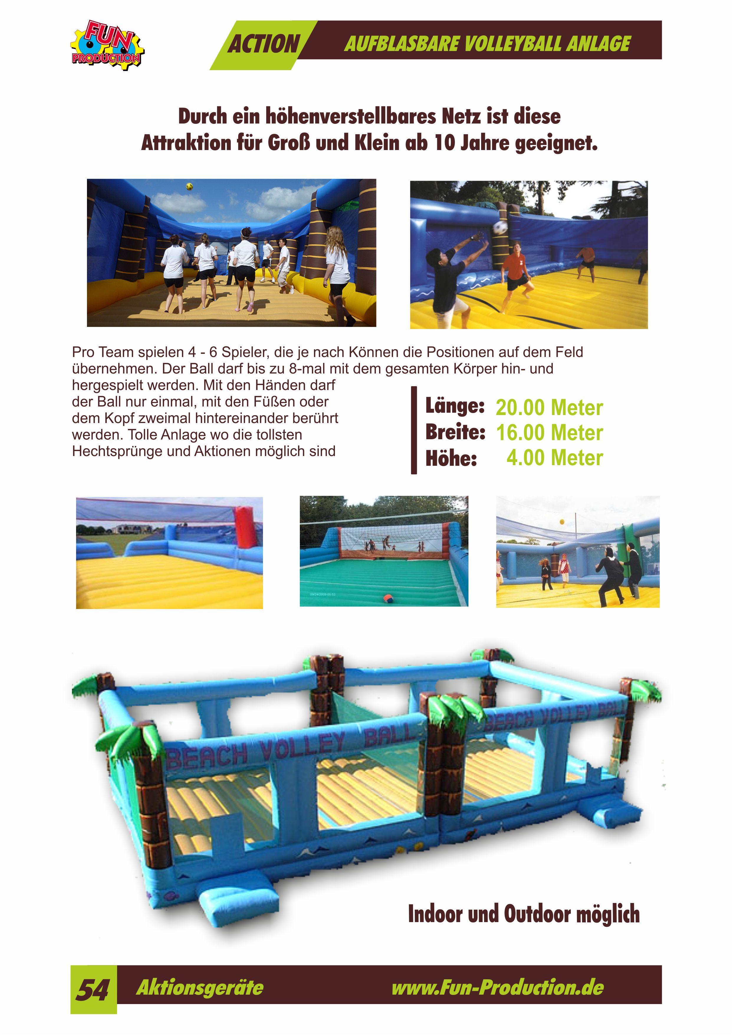 Aufblasbare Volleyball Anlage Fun Production GmbH