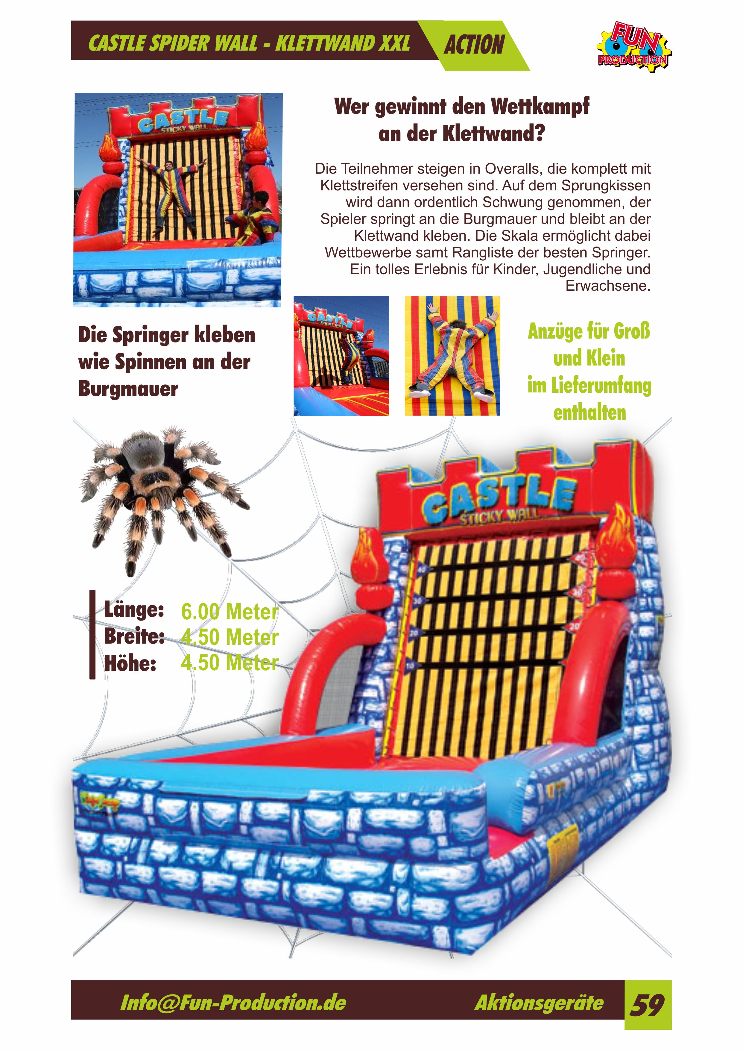 Castle Spider Wall Fun Production GmbH