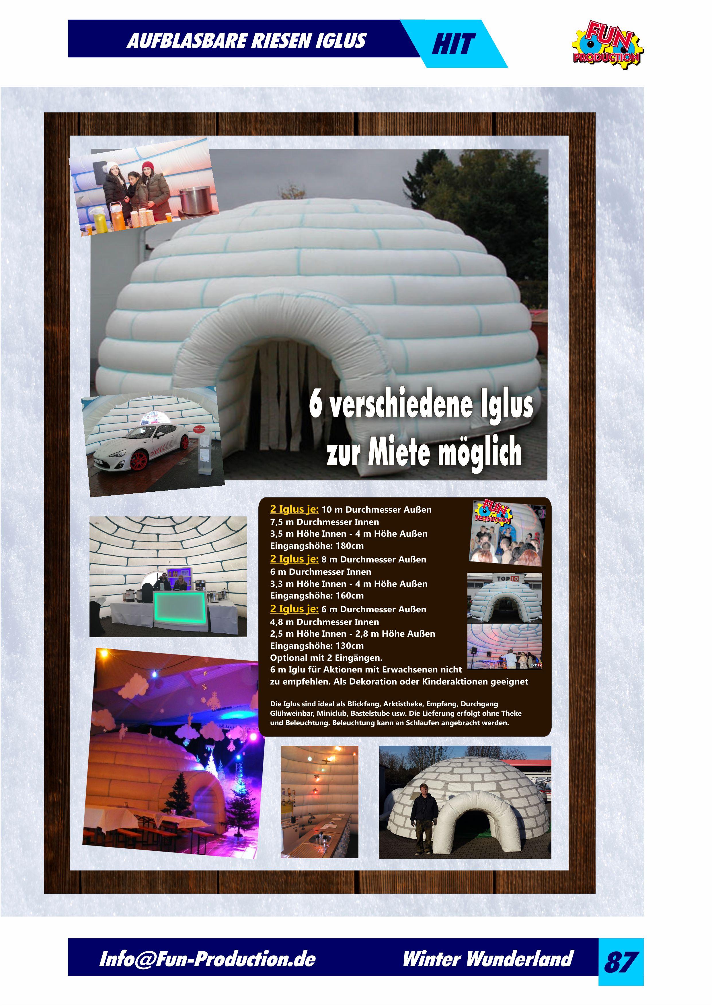 Aufblasbare Riesen Iglus Fun Production GmbH