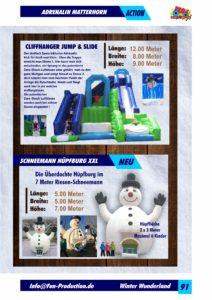 Adrenalin Matterhorn Jump & Slide, Schneemann Hüpfburg XXL Fun Production GmbH