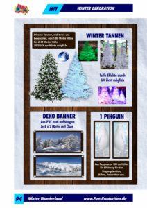 Winter Dekoration Tannen Winterbanner Fun Production GmbH