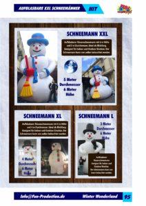 Schneemänner aufblasbar Fun Production GmbH