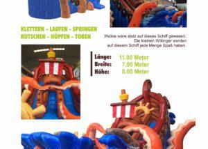 Wikinger Erlebnis Schiff XXL Fun Production GmbH Hüpfburg Koblenz