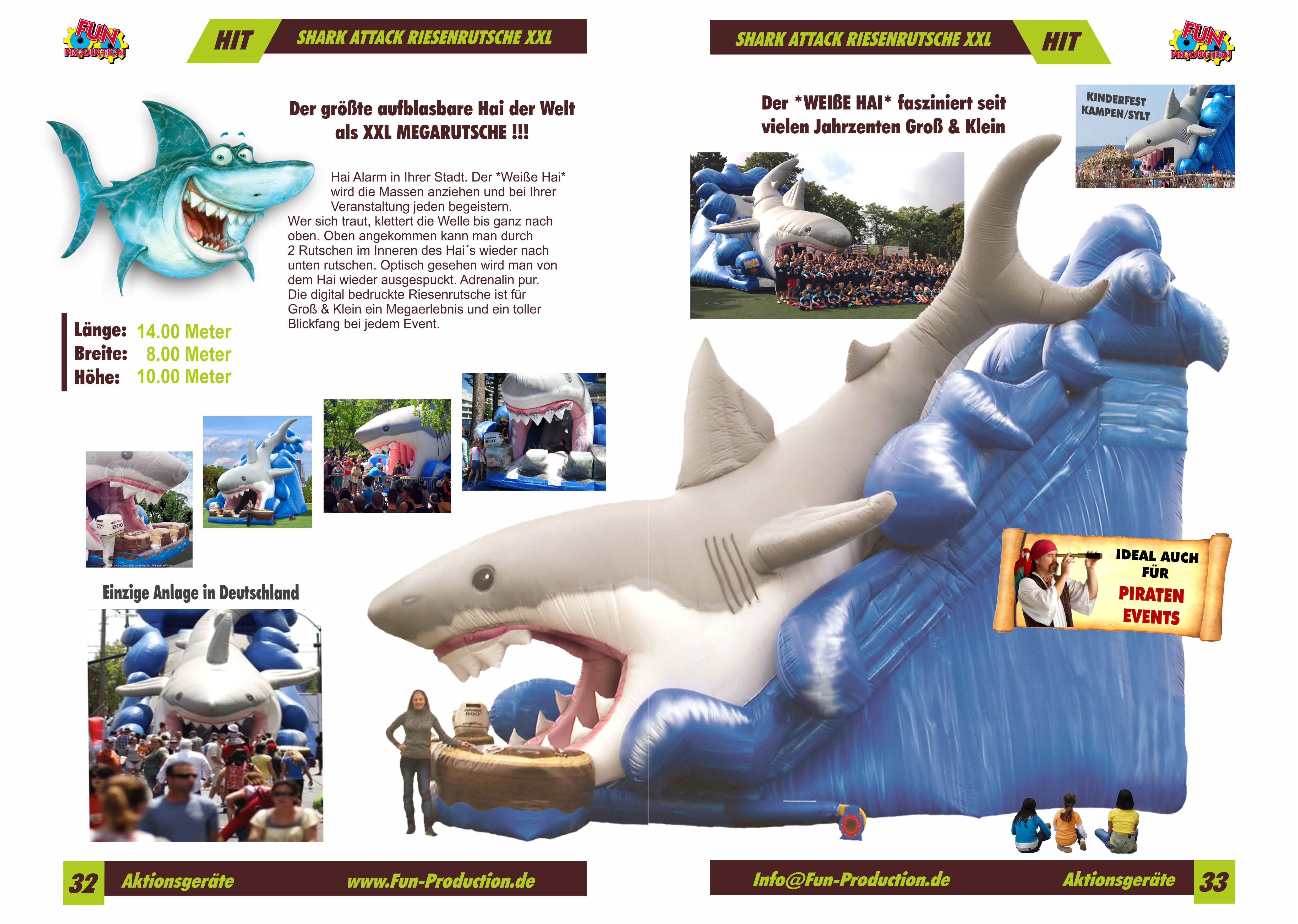 Shark Attack Fun Production GmbH Hüpfburg Koblenz