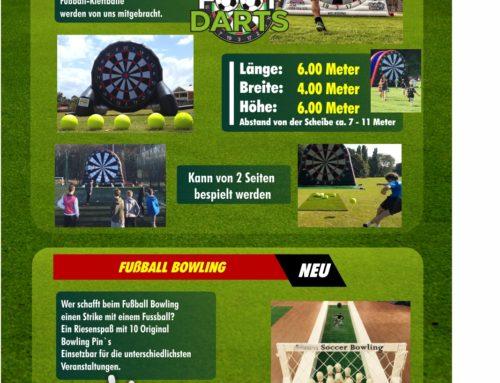 Fußball Dart XXL + Fußball Bowling