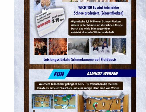 Schneekanone XXL + Almhut Werfen