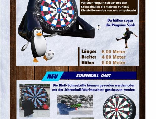 Pinguin-/ Schneeball Dart XXL